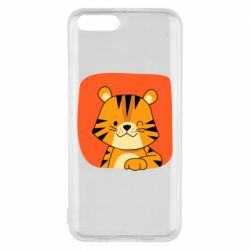 Чехол для Xiaomi Mi6 Striped tiger with smile
