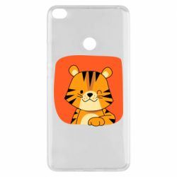 Чехол для Xiaomi Mi Max 2 Striped tiger with smile