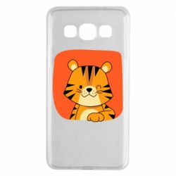 Чехол для Samsung A3 2015 Striped tiger with smile