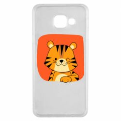 Чехол для Samsung A3 2016 Striped tiger with smile