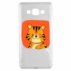 Чехол для Samsung A5 2015 Striped tiger with smile