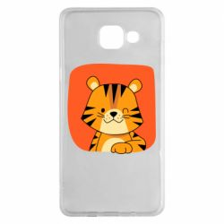 Чехол для Samsung A5 2016 Striped tiger with smile