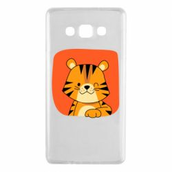 Чехол для Samsung A7 2015 Striped tiger with smile