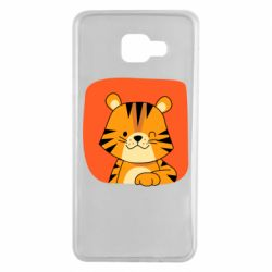 Чехол для Samsung A7 2016 Striped tiger with smile