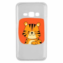 Чехол для Samsung J1 2016 Striped tiger with smile