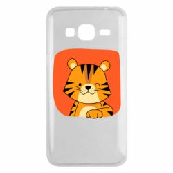 Чехол для Samsung J3 2016 Striped tiger with smile