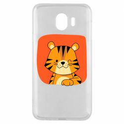 Чехол для Samsung J4 Striped tiger with smile