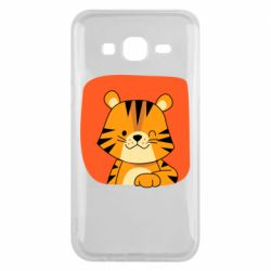 Чехол для Samsung J5 2015 Striped tiger with smile
