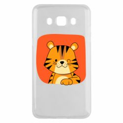 Чехол для Samsung J5 2016 Striped tiger with smile