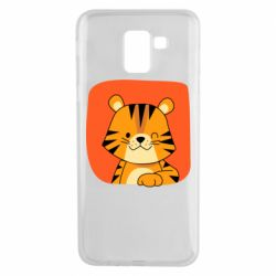 Чехол для Samsung J6 Striped tiger with smile