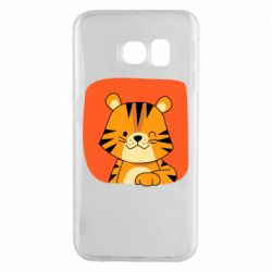 Чехол для Samsung S6 EDGE Striped tiger with smile