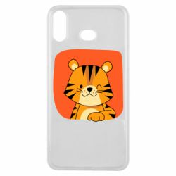 Чехол для Samsung A6s Striped tiger with smile
