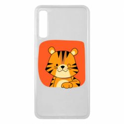 Чехол для Samsung A7 2018 Striped tiger with smile