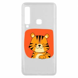 Чехол для Samsung A9 2018 Striped tiger with smile