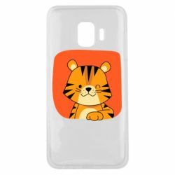 Чехол для Samsung J2 Core Striped tiger with smile