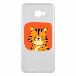 Чехол для Samsung J4 Plus 2018 Striped tiger with smile
