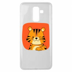 Чехол для Samsung J8 2018 Striped tiger with smile