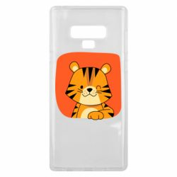 Чехол для Samsung Note 9 Striped tiger with smile