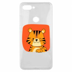Чехол для Xiaomi Mi8 Lite Striped tiger with smile