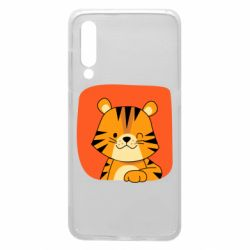 Чехол для Xiaomi Mi9 Striped tiger with smile