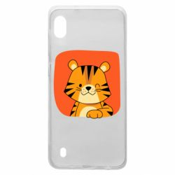 Чехол для Samsung A10 Striped tiger with smile