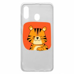 Чехол для Samsung A30 Striped tiger with smile