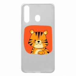 Чехол для Samsung A60 Striped tiger with smile