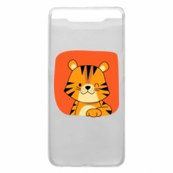 Чехол для Samsung A80 Striped tiger with smile