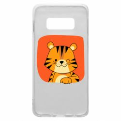 Чехол для Samsung S10e Striped tiger with smile