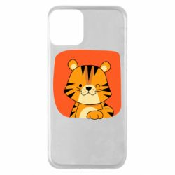 Чехол для iPhone 11 Striped tiger with smile