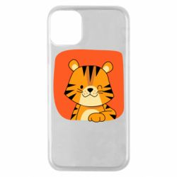 Чехол для iPhone 11 Pro Striped tiger with smile