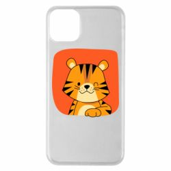 Чехол для iPhone 11 Pro Max Striped tiger with smile