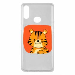 Чехол для Samsung A10s Striped tiger with smile