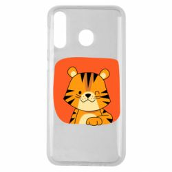 Чехол для Samsung M30 Striped tiger with smile