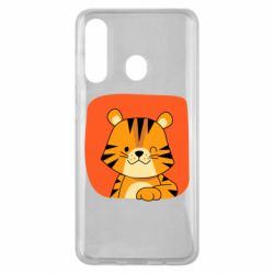Чехол для Samsung M40 Striped tiger with smile