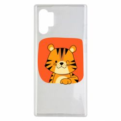 Чехол для Samsung Note 10 Plus Striped tiger with smile