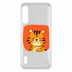 Чохол для Xiaomi Mi A3 Striped tiger with smile