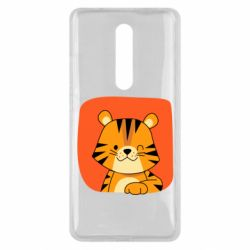 Чехол для Xiaomi Mi9T Striped tiger with smile