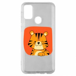 Чехол для Samsung M30s Striped tiger with smile