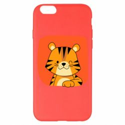 Чехол для iPhone 6 Plus/6S Plus Striped tiger with smile