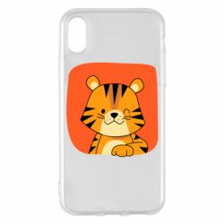 Чехол для iPhone X/Xs Striped tiger with smile