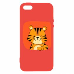 Чехол для iPhone5/5S/SE Striped tiger with smile