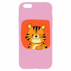 Чехол для iPhone 6/6S Striped tiger with smile