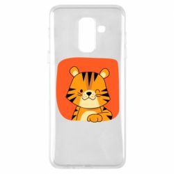 Чехол для Samsung A6+ 2018 Striped tiger with smile