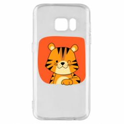 Чехол для Samsung S7 Striped tiger with smile