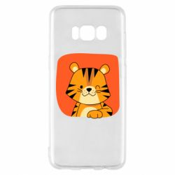 Чехол для Samsung S8 Striped tiger with smile