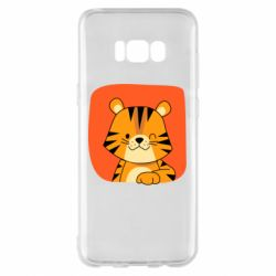 Чехол для Samsung S8+ Striped tiger with smile
