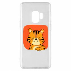 Чехол для Samsung S9 Striped tiger with smile