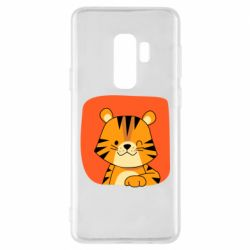 Чехол для Samsung S9+ Striped tiger with smile
