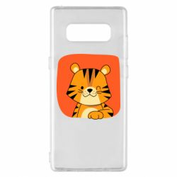 Чехол для Samsung Note 8 Striped tiger with smile